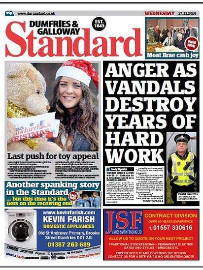 Standard front page