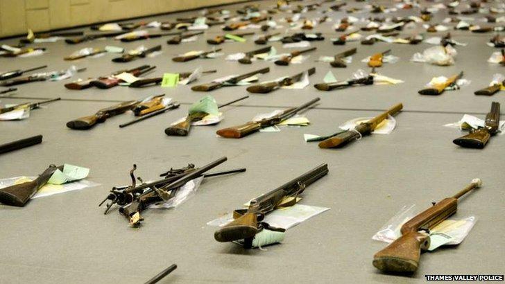 Surrendered guns