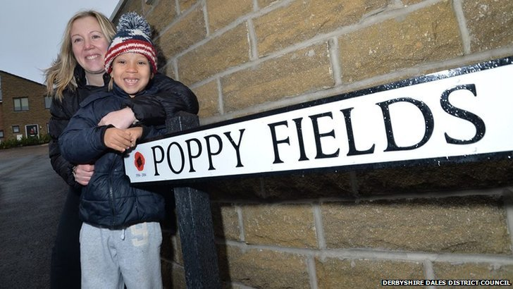 Deborah Shimwell and her son Kristian on Poppy Fields Close