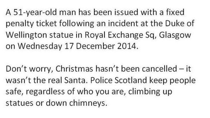 Police Santa statement