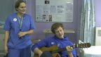VIDEO: Patchell joins nurse for guitar turn