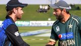 New Zealand captain Kane Williamson and Pakistan skipper Shahid Afridi