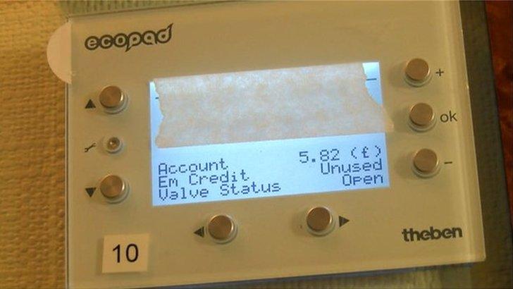 Ecopod control panel