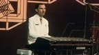 Ron Mael playing the keyboards in Sparks