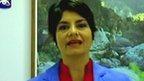 Cuban TV news presenter