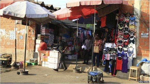 Abuja market scene