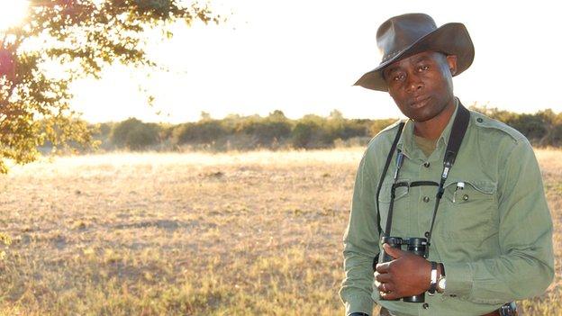 Wildlife guide Manny Mvula