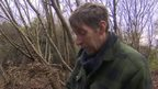 Martin Brockman working in woodland