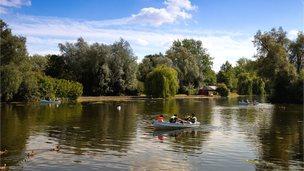 Wicksteed Park lake