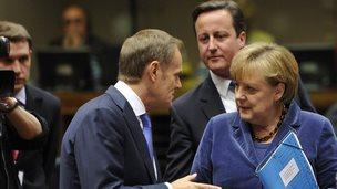 EU leaders in Brussels - file pic, 2011