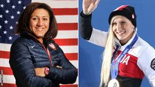 Elana Meyers-Taylor and Kaillie Humphries