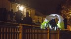 Police at the scene of the arrests in Ardcarn Park, Newry, in November