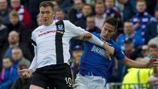 Kevin Kyle in action for Ayr United against Rangers