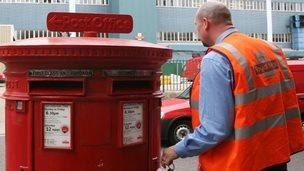 Postal worker Beeston, Nottingham