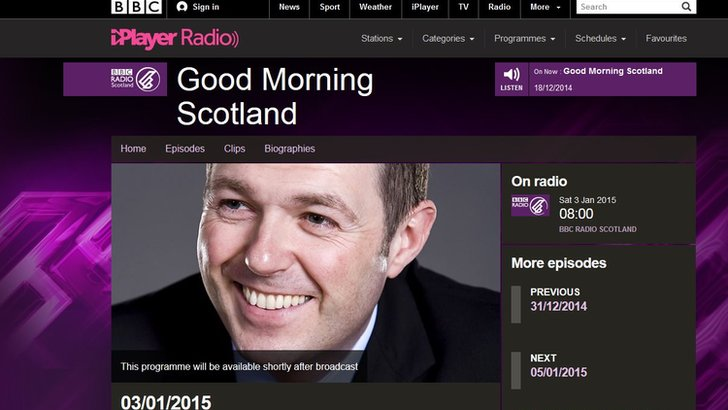 Good Morning Scotland programme