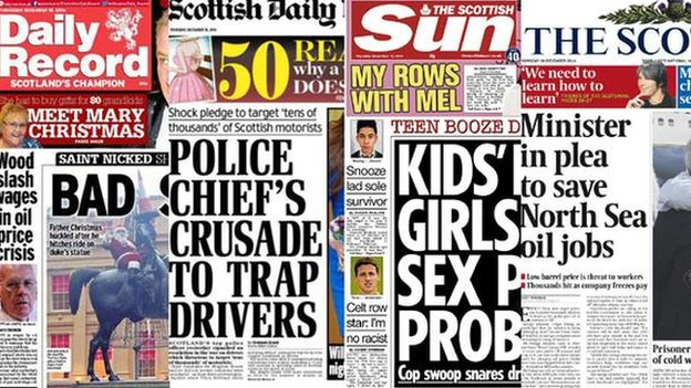 Thursday's newspapers
