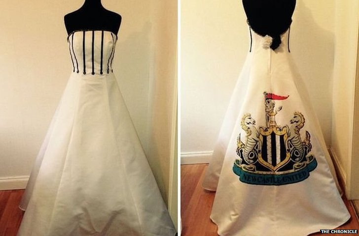 Newcastle Utd wedding dress