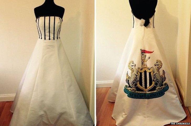 Newcastle Utd wedding dress