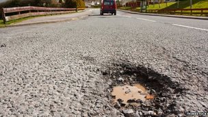 Potholes - one of the most common causes for damages claims - cost Glasgow council £1.7m since 2000