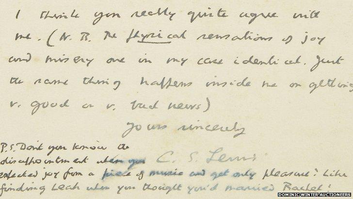 CS Lewis letter
