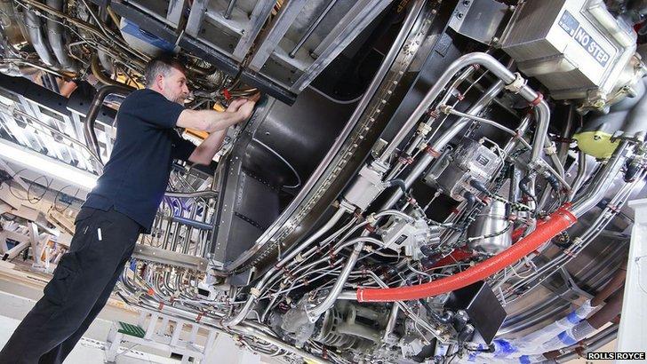 Trent XWB at Roll Royce plant