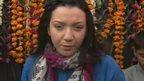 BBC reporter Shaimaa Khalil outside Peshawar school attacked by Taliban