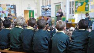 School children in 2011