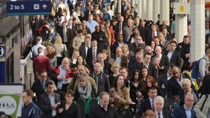 Commuters at Paddington