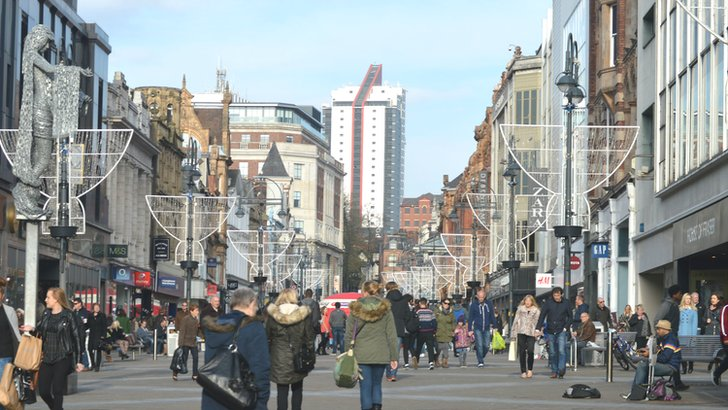 Shoppers on Briggate