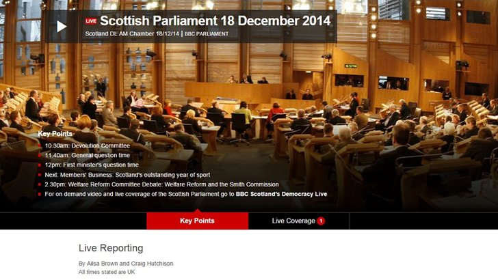 FMQs live page