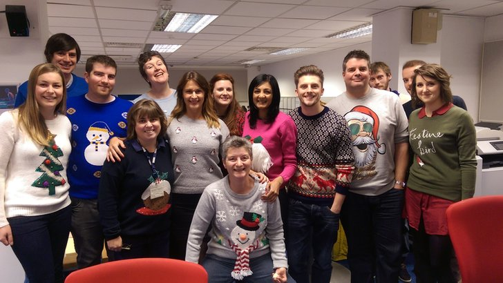 BBC Derby's festive jumpers