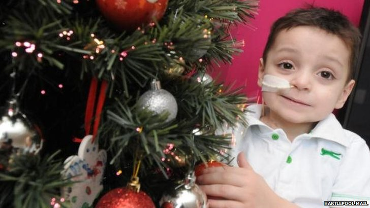 Boy with Christmas Tree