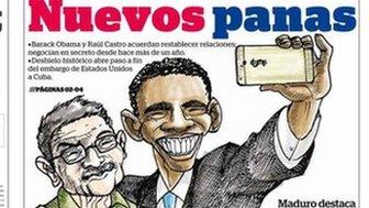 Venezuelan paper Diario 2001 front page