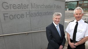 Tony Lloyd (left), police and crime commissioner for Greater Manchester