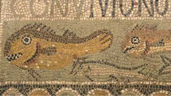 Early Christian mosaic of a fish