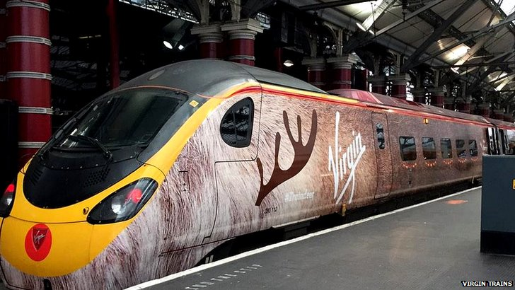 Traindeer in Liverpool Lime Street