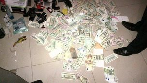 A pile of fake currency in Uganda