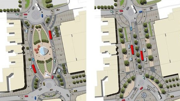 Alternative plans for Frideswide Square