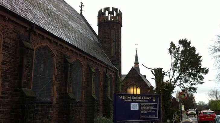 St James' Methodist United Reformed Church in Woolton, Liverpool,