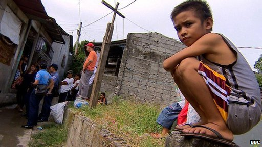 Police say this slum near Manila has been overrun by sextortion gangs