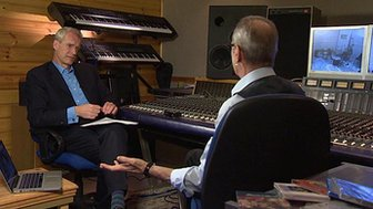 Stephen Sackur with Status Quo's Francis Rossi