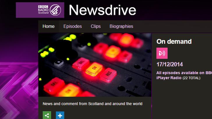 Newsdrive web page