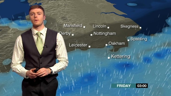 Charlie Slater with the weather forecast