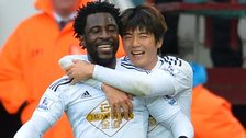 Wilfried Bony and Ki Sung-yueng