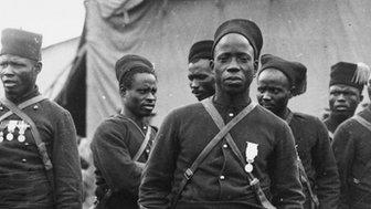 Senegalese riflemen in WW1