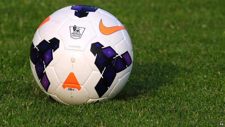 Premier League logo on a football