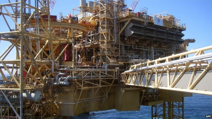 Total's north sea oil rig