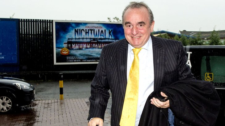 Derek Llambias arrives at Ibrox for talks
