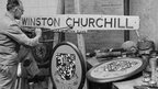 Restoration of nameplate and crest for Winston Churchill locomotive