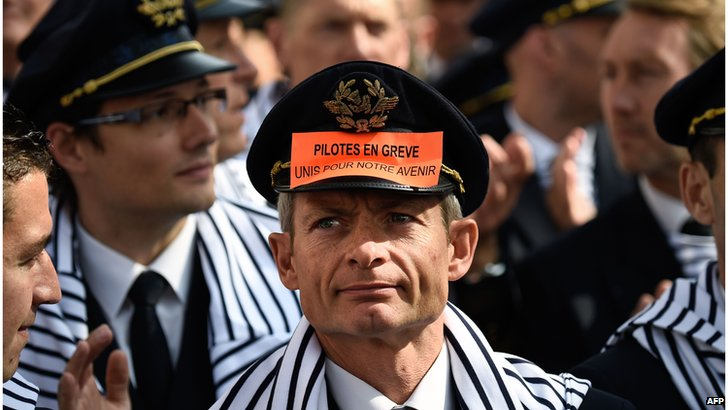 Striking Air France pilots